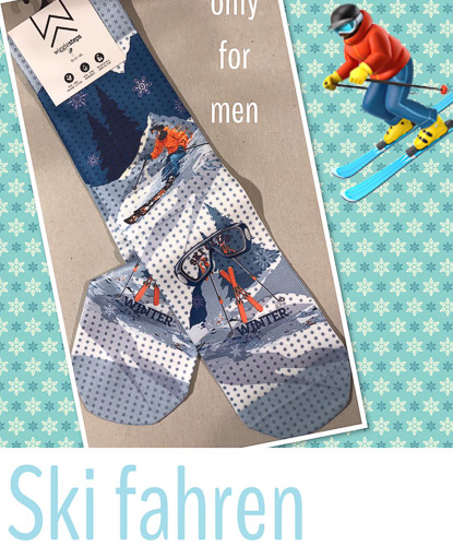 Wigglesteps Socken Ski fahren